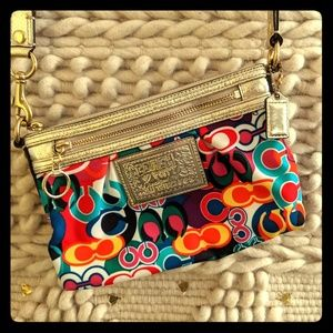Coach Poppy Crossbody Purse Colorful